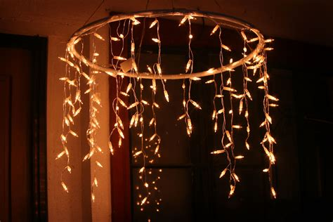 make lights how to make an outdoor chandelier with icicle lights