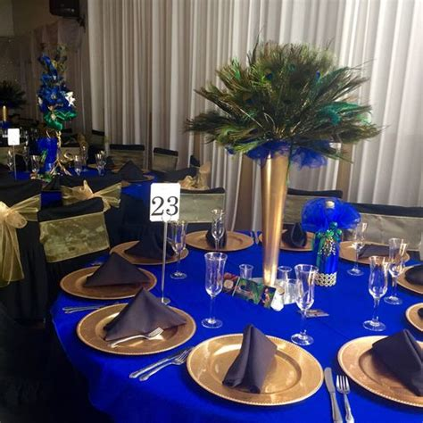 blue and gold decorations 17 best ideas about royal blue centerpieces on