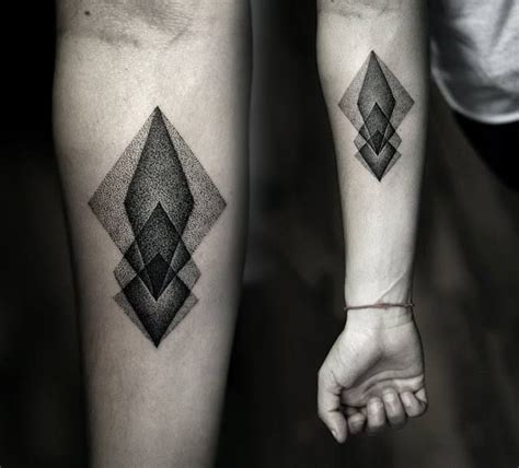 great geometric stipple tattoos for forearm