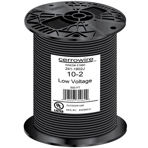 cerrowire 500 ft 10 2 black stranded landscape lighting wire 241 1802j the home depot