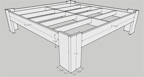 bed frames for a king size bed king size bed plans dimensions plans free