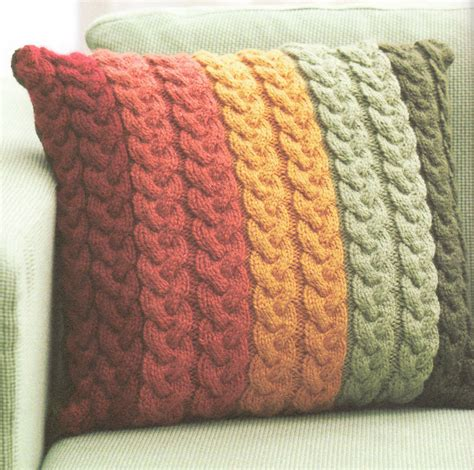 chunky yarn knitting patterns chunky wool cable cushion knitting pattern 16 quot knit in
