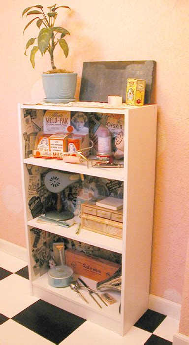 decoupage shelves retro salon decoupage shelf by erin tinney
