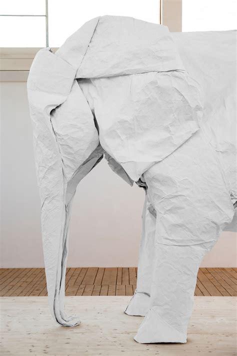 White Elephant A Size Origami Elephant Folded From A