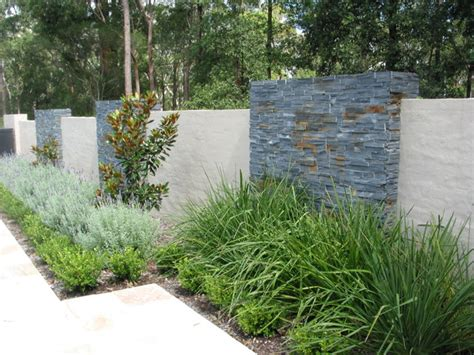 feature wall contemporary landscape sydney by