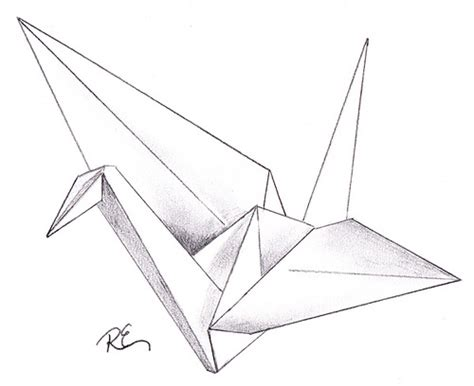 origami bird drawing crane wishing for recovery in japan flickr photo