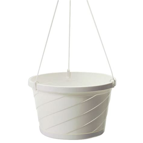 white hanging planter set of 12 white style hanging basket planters