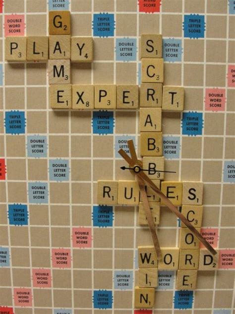 scrabble clock 1000 images about board crafts on
