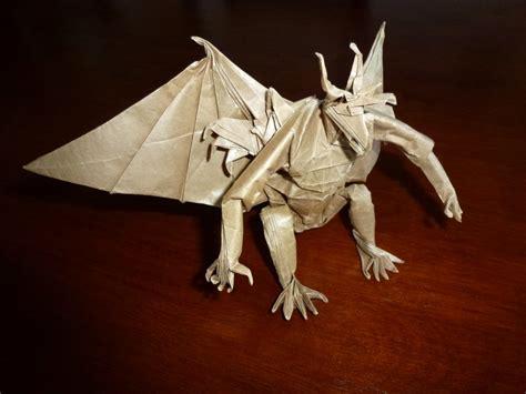 origami gargoyle 527 gargoyle setting the crease