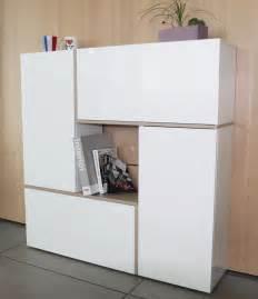 meuble de rangement design 4 portes laqu 233 blanc birdy meuble de rangement meuble de salon