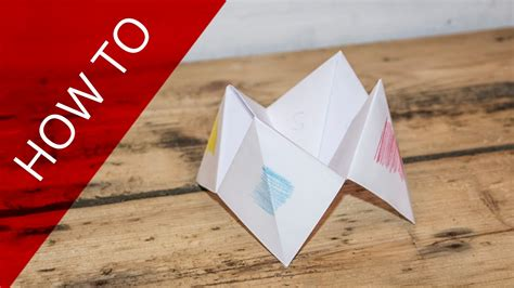 to do with paper how to make a paper fortune teller 101 things to do with