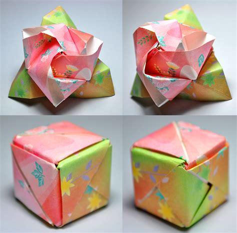 origami flower cube origami magic cube by satkyoyama on deviantart
