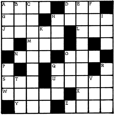 crossword clue search results for crossword puzzle blank template