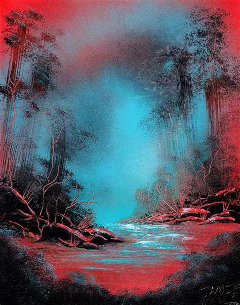 spray painting in spray paint this is a strange planet by visualjamie