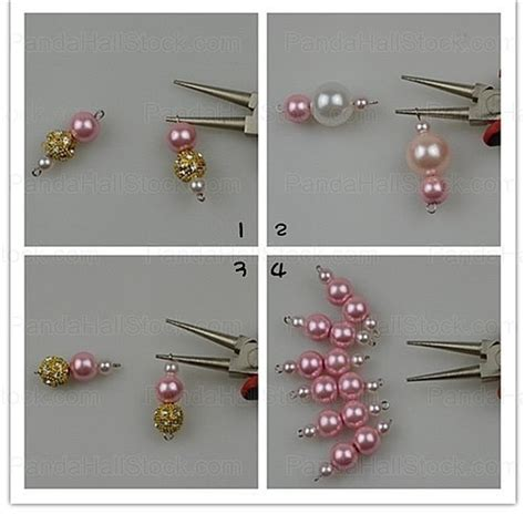 step by step how to make american beaded earrings how to make a pearl necklace easy 4 steps to make a