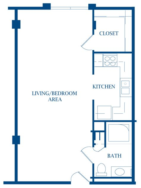 efficiency apartment floor plan apartments 187 presbyterian manor