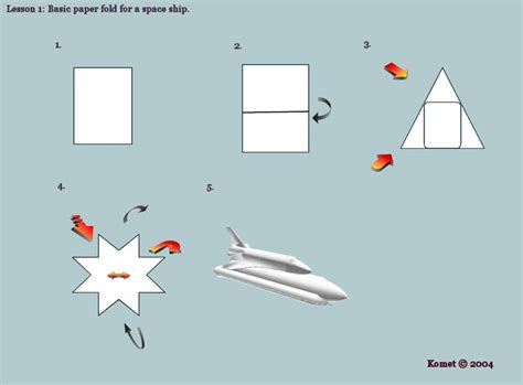 origami space ship origami spaceship by komet on deviantart