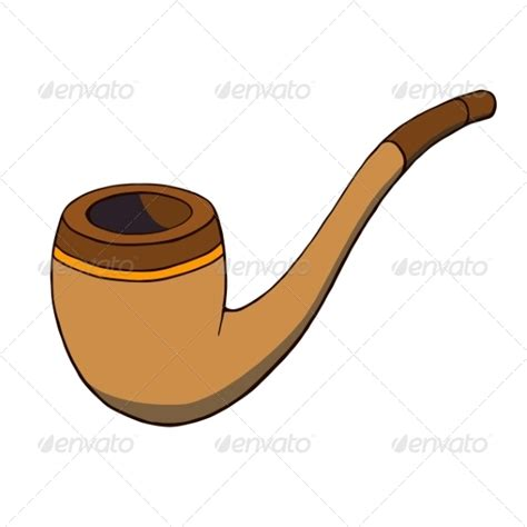 cartoon tobacco pipe graphicriver