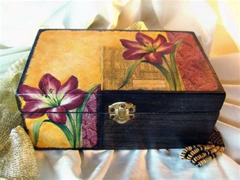 how to decoupage a cardboard box decoupage box arts crafts and design finds