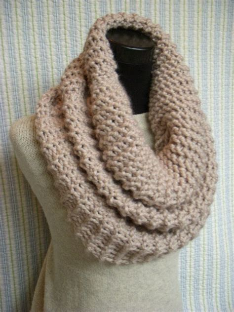 knitted cowls pale linen knit cowl large chunky knitted capelet