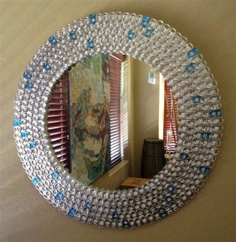 pop tab crafts projects pop tab mirror craft ideas