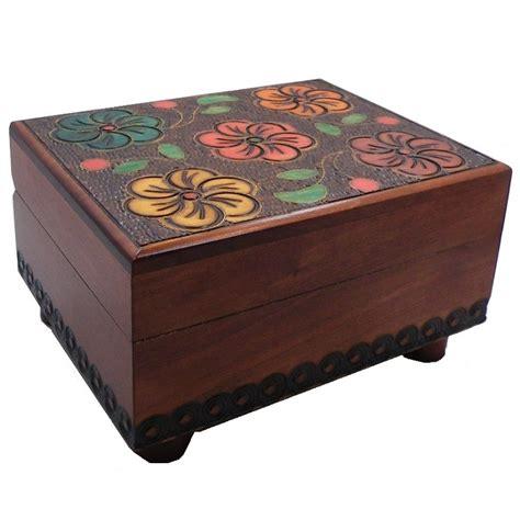 woodworking puzzle box floral carved secret wooden puzzle box
