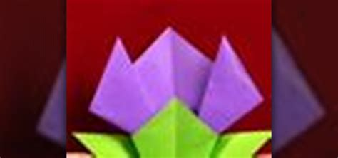 origami flower tulip how to origami a tulip flower 171 origami