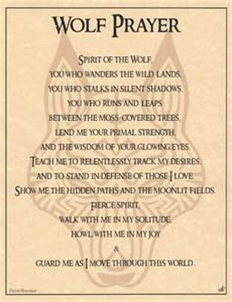 witches prayer wolf prayer poster wicca pagan witch witchcraft