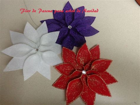 adornos arbol de navidad manualidades diy manualidades para navidad flor de pascua para decorar