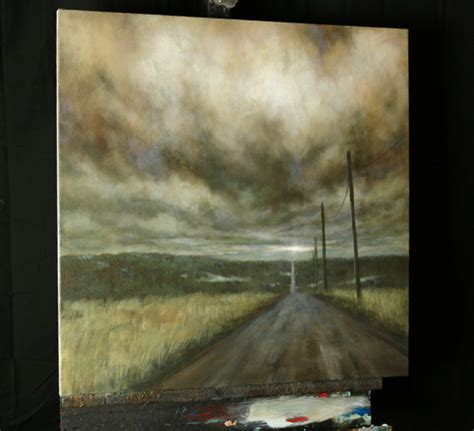 acrylic paint lessons the road takes you there an acrylic painting lesson