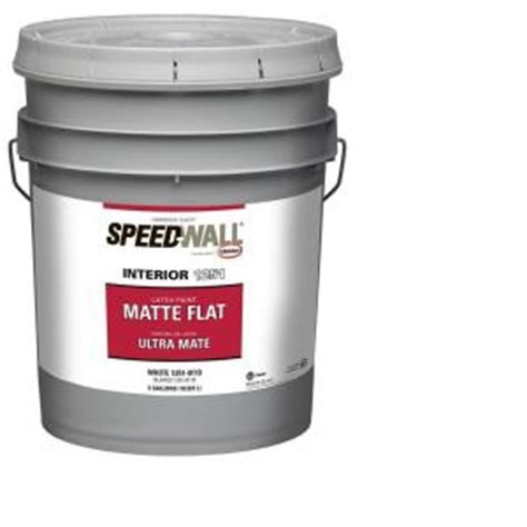 home depot 5 gallon interior paint glidden professional 5 gal speedwall white flat interior paint gps 2000 05 the home depot