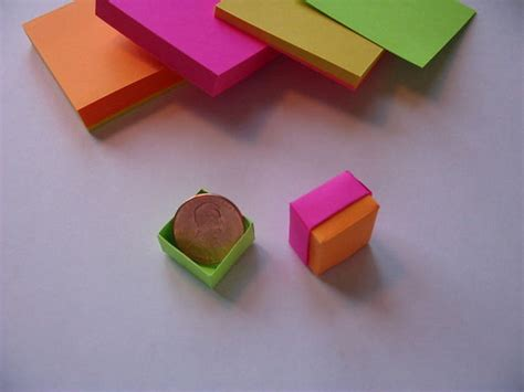sticky note origami origami post it box