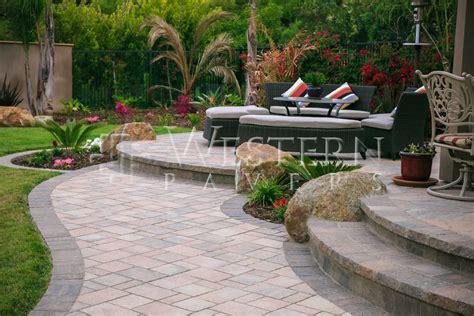 raised paver patio designs san diego pavers raised and sunken patio gallery by