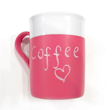 chalkboard paint mugs chalkboard mug pink chalkboard mug pink mug on luulla