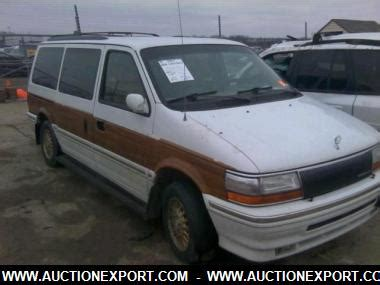 used 1993 chrysler town country base sports van car for sale at auctionexport
