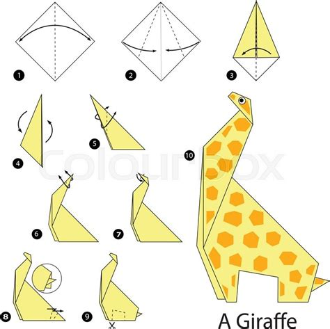 how to make a origami step by step step by step how to make origami a giraffe