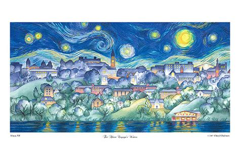 paint nite ithaca watercolor giclee print cornell by