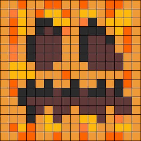 perler bead patterns minecraft minecraft pumpkin perler bead pattern bead sprites