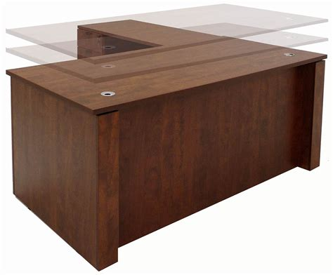 executive l shaped desks adjustable height executive office desk in cherry