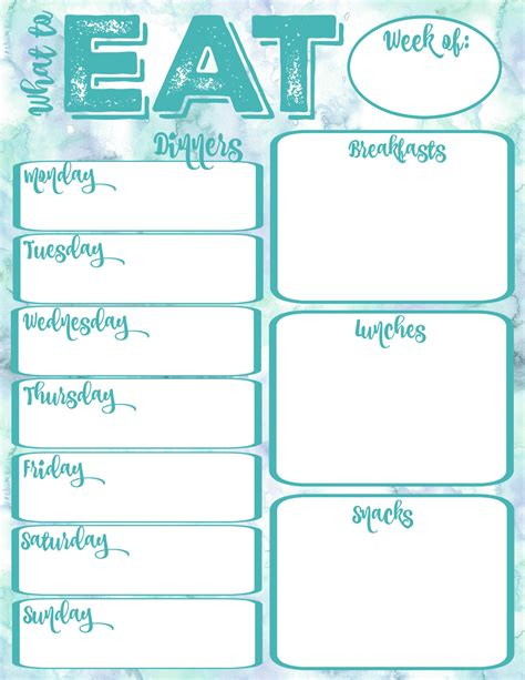 free printable pantry makeover free printable weekly meal planner and