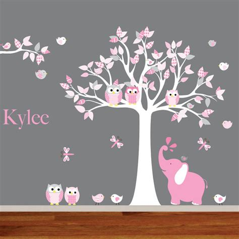 nursery wall decal tree wall decals nursery nursery wall decal elephant decal