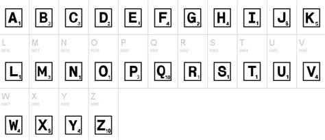 scrabble pieces font scrabble fonts