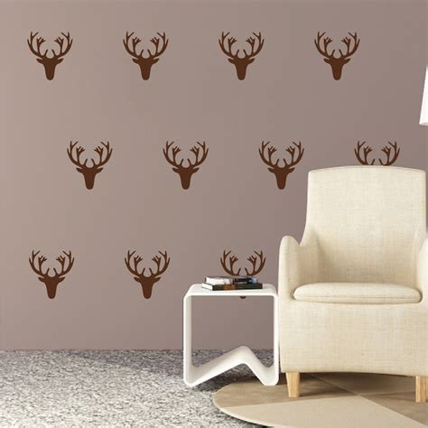 deer stickers for wall deer wall decal kit stickers trendy wall designs