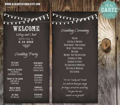 card programs string lights wedding ceremony cards wedding by