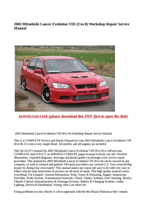 automotive repair manual 2003 mitsubishi lancer evolution seat position control service manual car owners manuals for sale 2003 mitsubishi lancer evolution engine control