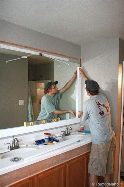 Framed Bathroom Mirror Ideas by Brilliant Framing Bathroom Mirror Ideas With Best 25