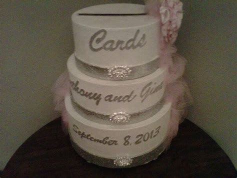 how to make a wedding card box my bling wedding card box i made this from hat