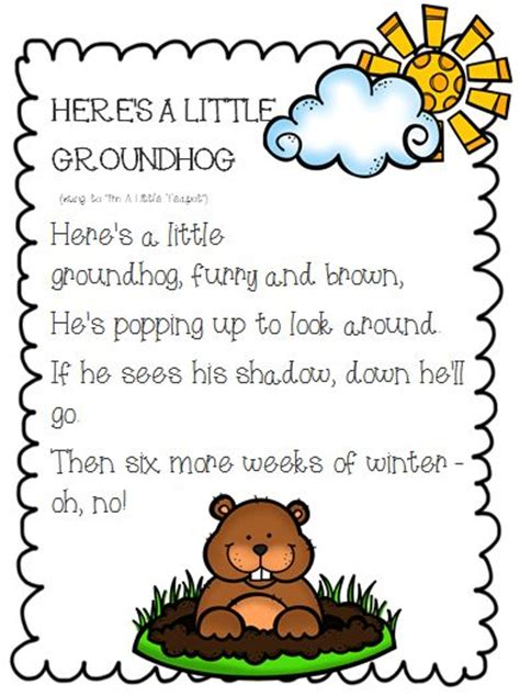 groundhog day poetry groundhog day informative writing and opinion writing on