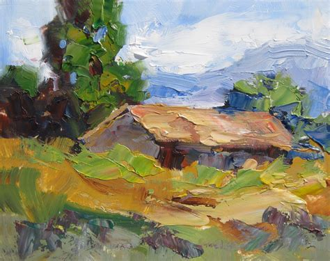 painting palette knife tom brown americana plein air palette knife