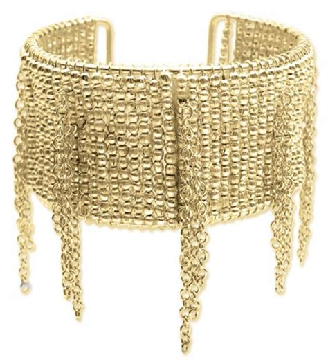 beaded cuff bracelets wholesale gold metal beaded fringe cuff bracelet zad